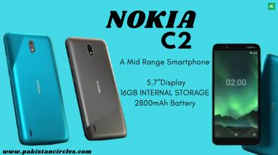 Nokia C2 specifications