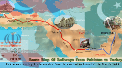 Turkey and Iran Islamabad between Train